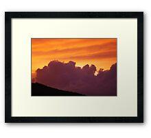 St John Sunset 3 Framed Print
