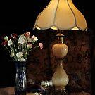 Blue Vase, Lamp and White Wine by FrankSchmidt