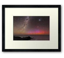 Red Aurora Over Australia  Framed Print