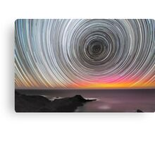 Aurora Star Trails Canvas Print