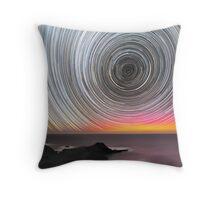 Aurora Star Trails Throw Pillow