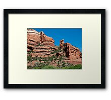 Canyon Peaks Framed Print