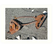 Rusty Fish Skeleton Art Print