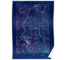 USGS Topo Map Washington State WA Seattle 243630 1897 125000 Inverted Poster