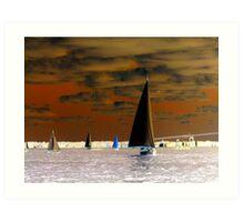 Chocolate Sails on a Mocha Tea Sea - Invert Photography Art Art Print