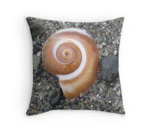 Snail Shell Throw Pillow
