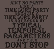 Time Lord Party Kids Clothes