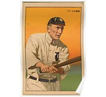 Benjamin K Edwards Collection Tyrus Raymond Cobb Detroit Tigers baseball card portrait Poster