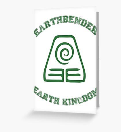 earth bender Greeting Card