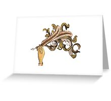 Funeral Quill Greeting Card