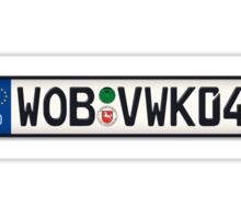 Wolfsburg K04 Europlate Sticker