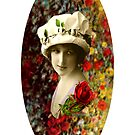 Flower Lady Collage by Joseph Welte
