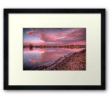 Off Shore Pink Framed Print