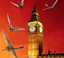 Landing In London Rocks by Eric Kempson