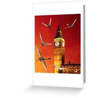 Landing In London Rocks Greeting Card