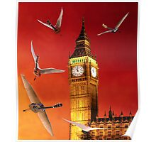 Landing In London Rocks Poster