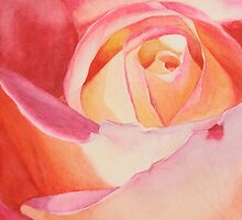 Heart of a Rose 3 by Jan Lawnikanis