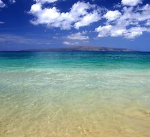 Sunny Blue Beach, Maui, Hawaii by Pierre Leclerc