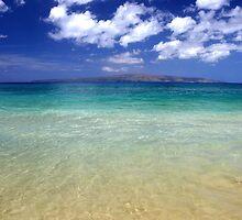 Sunny Blue Beach, Maui, Hawaii by Pierre Leclerc