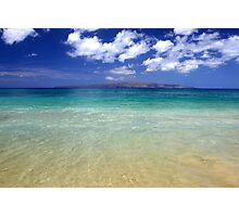 Sunny Blue Beach, Maui, Hawaii Photographic Print