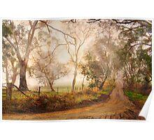 Morning Mist - Monkhouse Rd, Nairne, Adelaide Hills, SA Poster