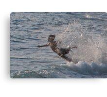 Boy diving Canvas Print