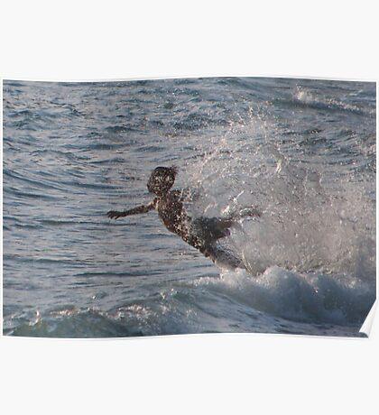 Boy diving Poster