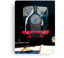 Thomas likes sleeping in. Look out for the fat controller Canvas Print