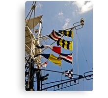 Signals HMS Belfast Canvas Print