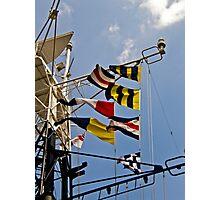 Signals HMS Belfast Photographic Print