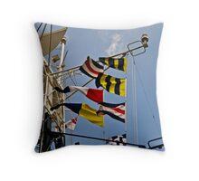 Signals HMS Belfast Throw Pillow
