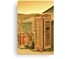 Abandoned Phone Box Canvas Print
