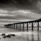 The Jetty - B&amp;W by Michael Howard