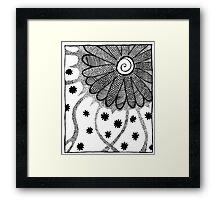 Flower in Pen and Ink Framed Print