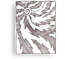 Solar Design in Pen and Ink Canvas Print