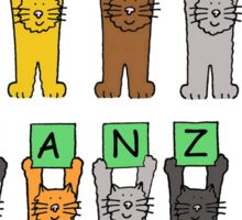 Happy Kwanzaa with fun cats Sticker