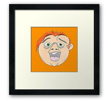 QUASIMODObubbleHEAD Framed Print