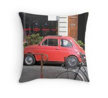 Cute Fiat Throw Pillow
