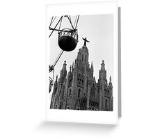 Tibidabo Cathedral Greeting Card