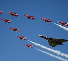 Vulcan Red Arrows by J Biggadike