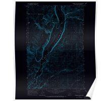 USGS Topo Map Washington State WA Jameson Lake SW 241689 1965 24000 Inverted Poster