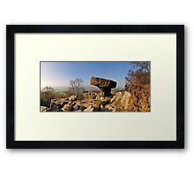Mushroom, Brimham Rocks Framed Print