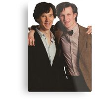 Sherlock and Eleven Metal Print