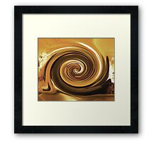010212 196 1 water color  @ma  france creperie twirl Framed Print