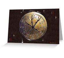 The Crucifixion of Time Greeting Card