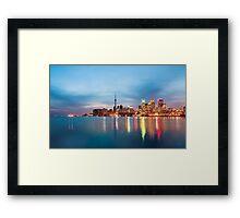 The docks, Toronto. Framed Print
