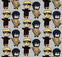 Naruto and Sasuke- Naruto the Last chibi by rainbowcho