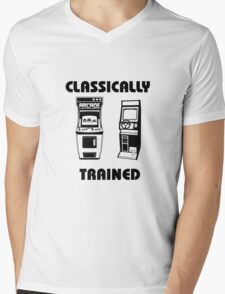 Classically Trained - Featuring Retro Arcade Machines Mens V-Neck T-Shirt