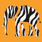 Elephant Zebra: Wild Mash Up by redcow