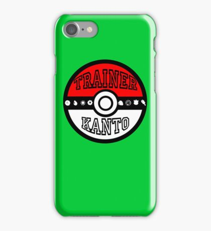 Kanto Trainer iPhone Case/Skin